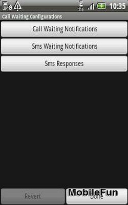 Call Waiting Configurations