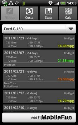 FuelLog: Car Management