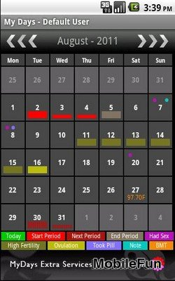 My Days: Period & Ovulation